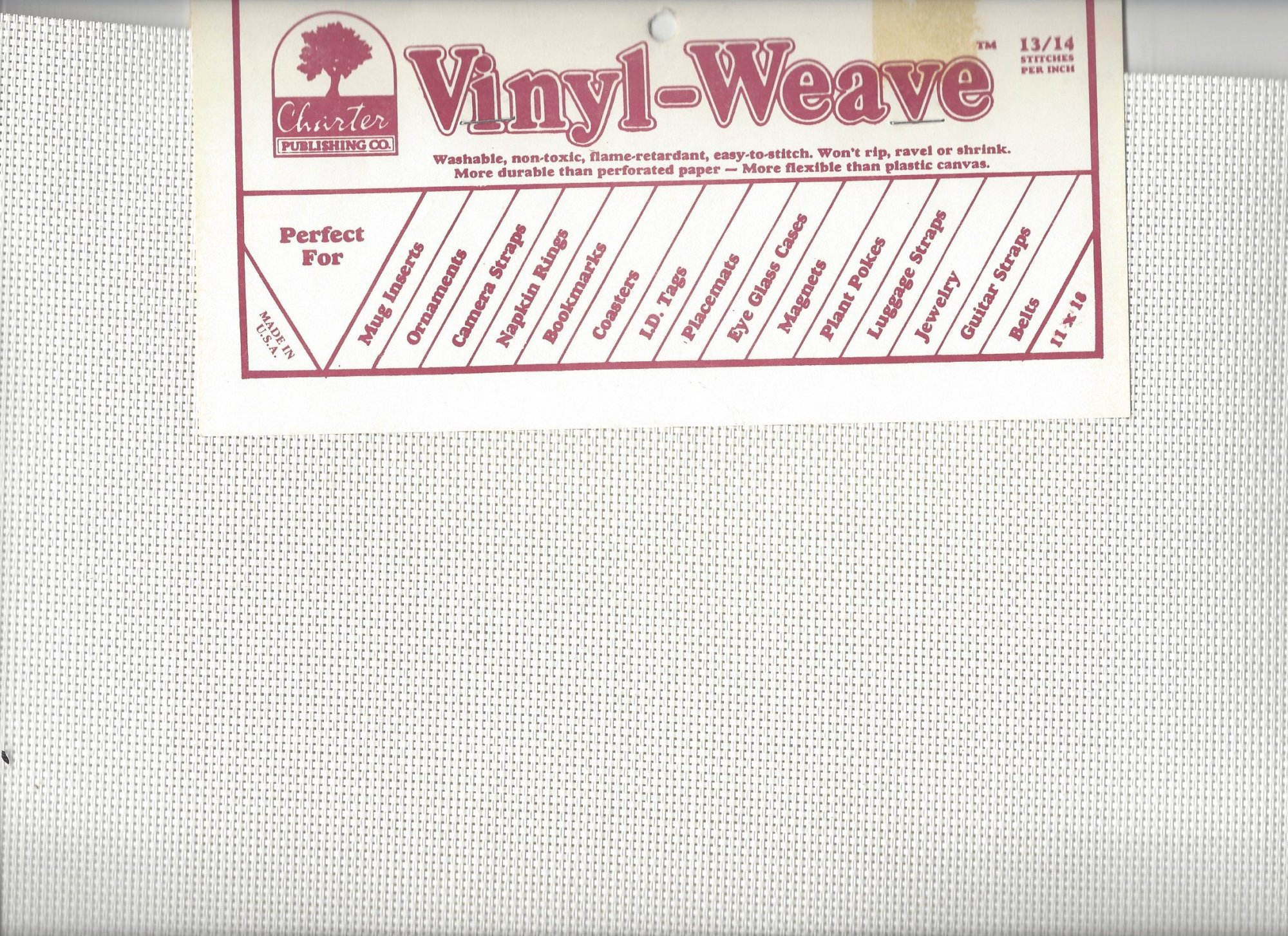 Charter Publishing Vinyl-Weave White with Patterns
