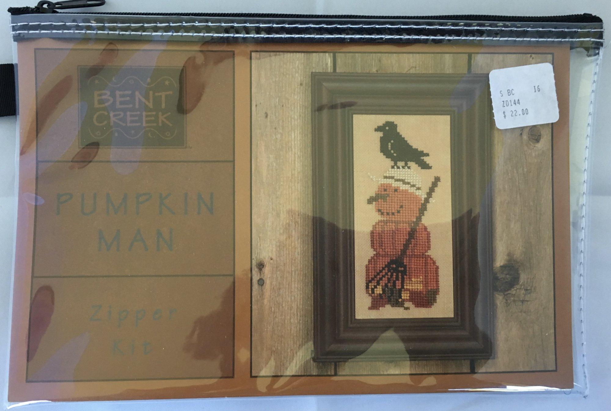 Bent Creek: Pumpkin Man Zipper Kit