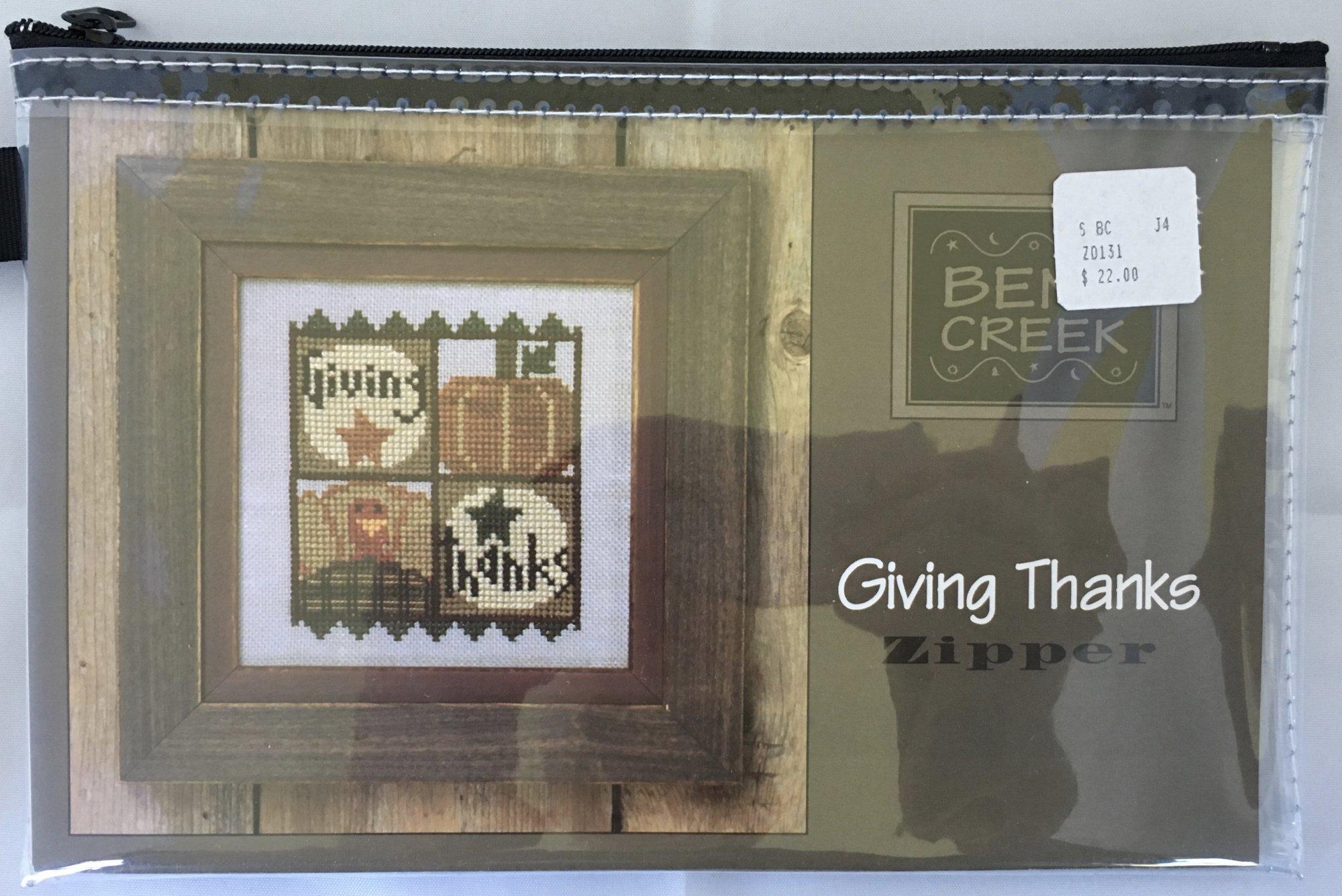 Bent Creek: Giving Thanks Zipper Kit