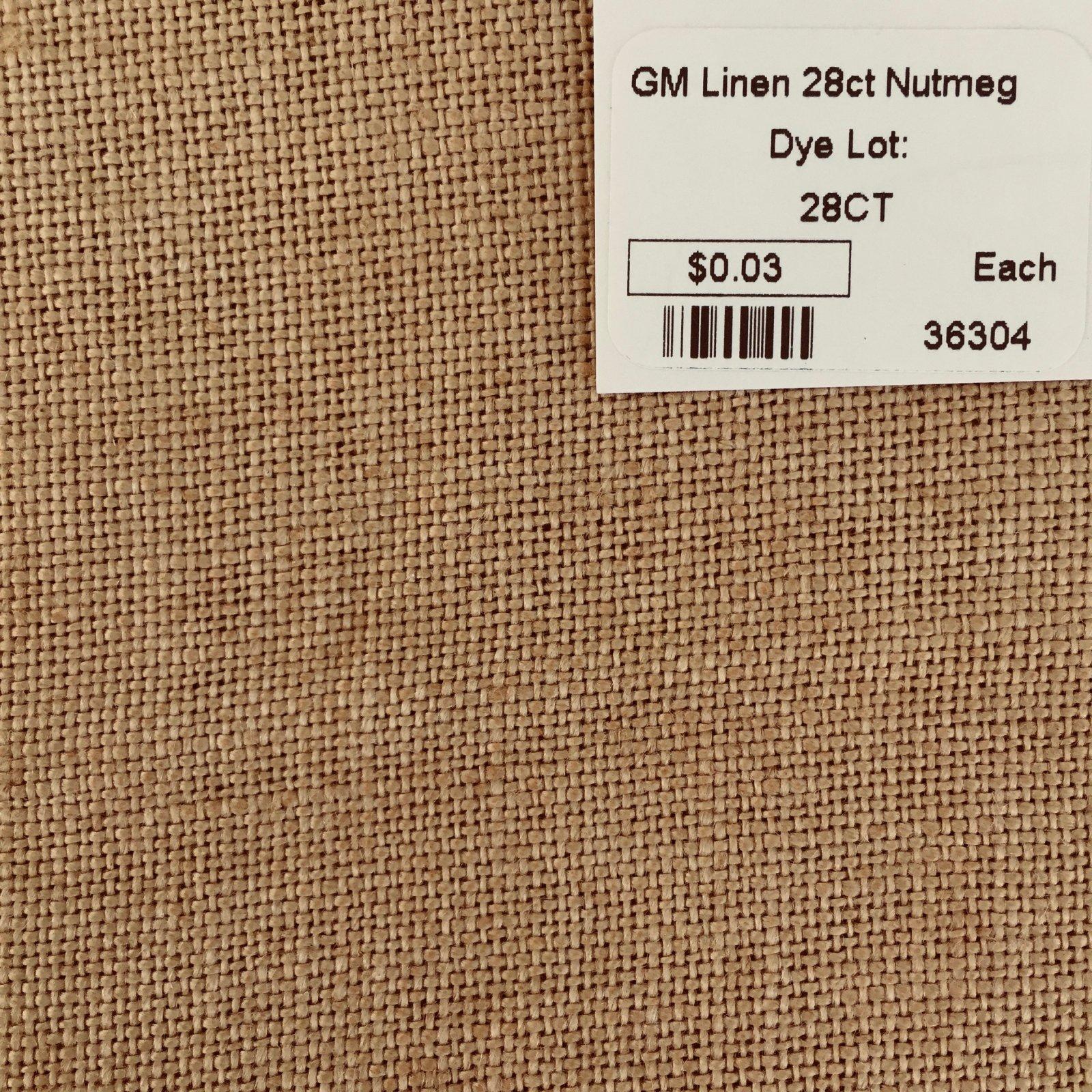 GM Linen 28ct Nutmeg