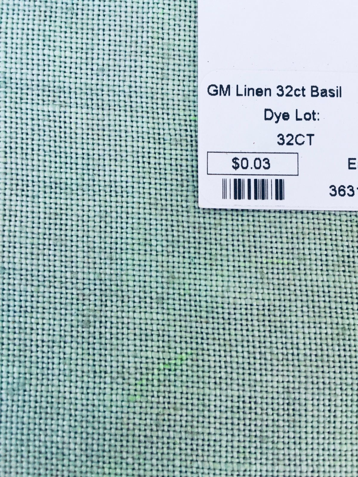 GM Linen 32ct Basil