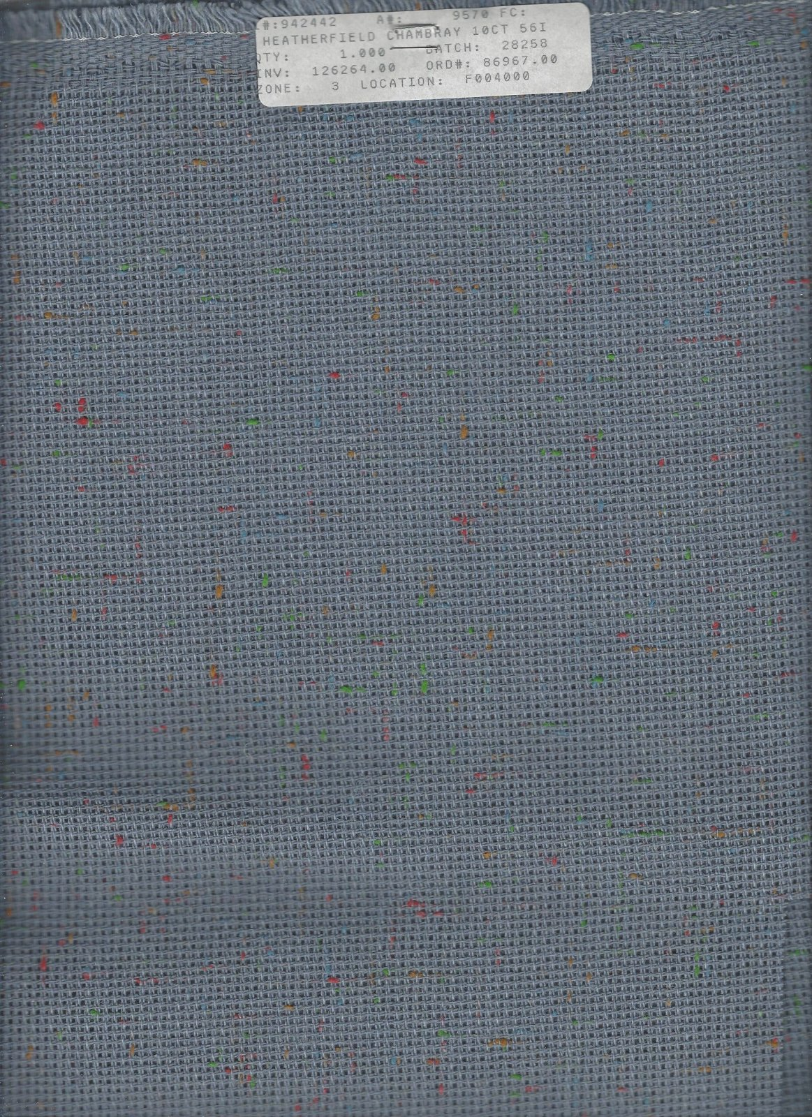 Heatherfield 10ct Chambray (discontinued color)