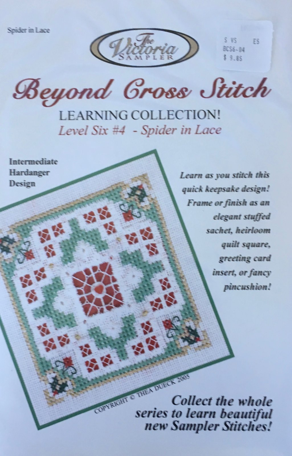 The Victoria Sampler: Christmas Cheer Level 6 - #4 Kit; Spider In Lace