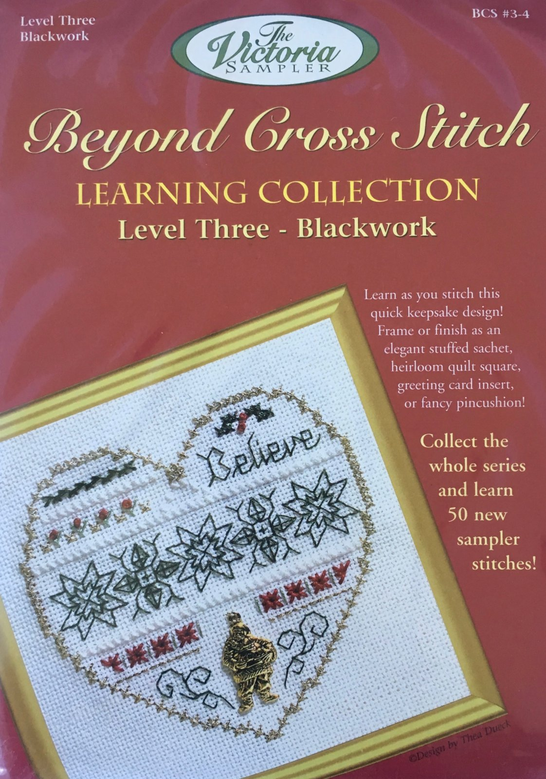 The Victoria Sampler: Believe Level 3 - #4 Kit; Blackwork