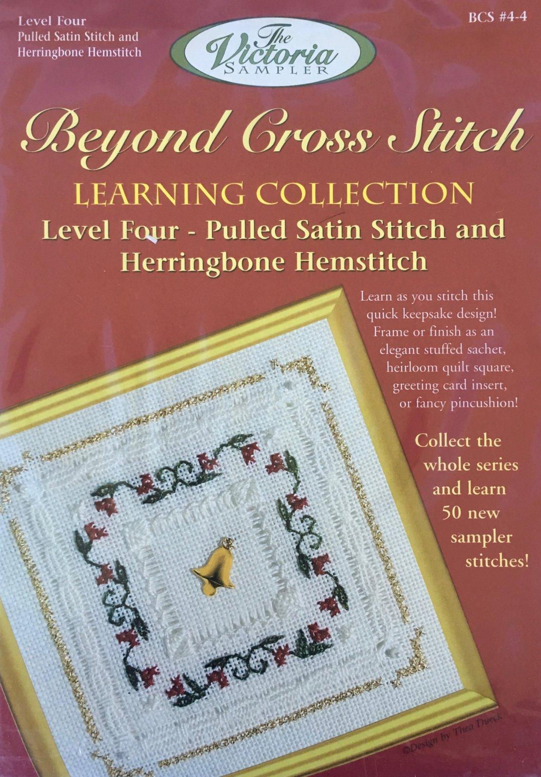 The Victoria Sampler: Christmas Floral Level 4 - #4 Kit; Pulled Satin Stitch & Herringbone Hemstitch