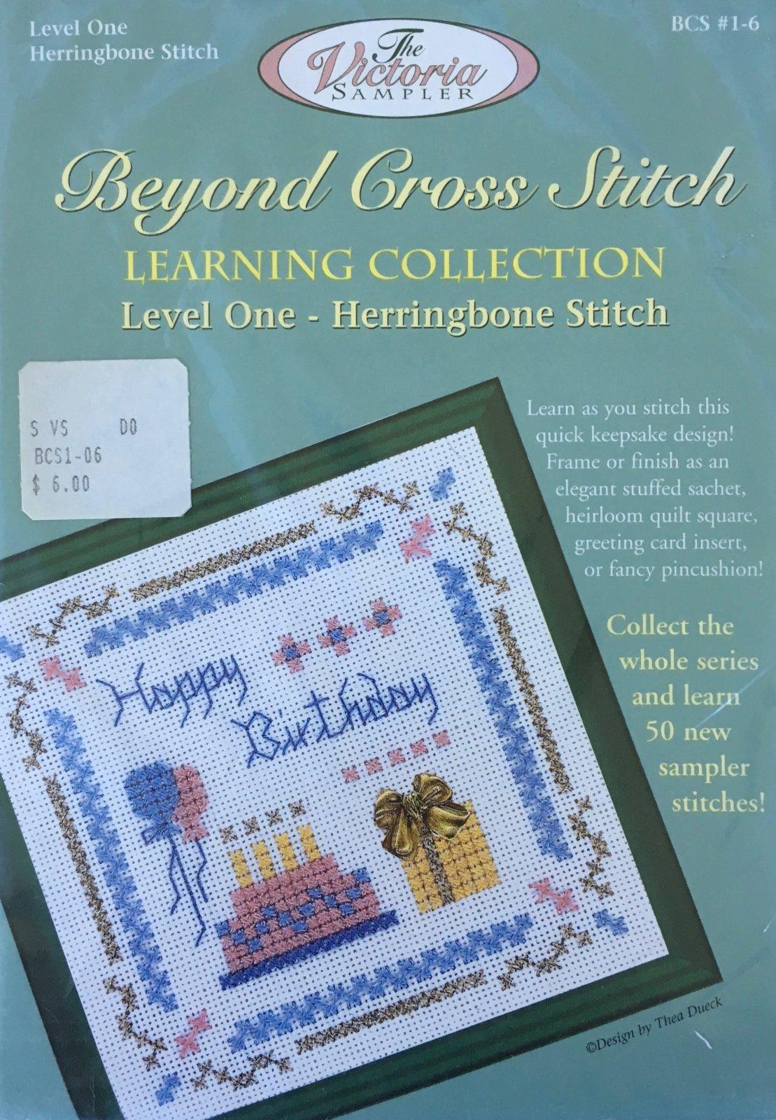 The Victoria Sampler: Happy Birthday Level 1 - #6 Kit; Herringbone Stitch