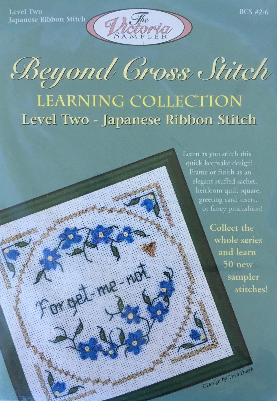 The Victoria Sampler: Forget Me Not Level 2 - #6 Kit; Japanese Ribbon Stitch