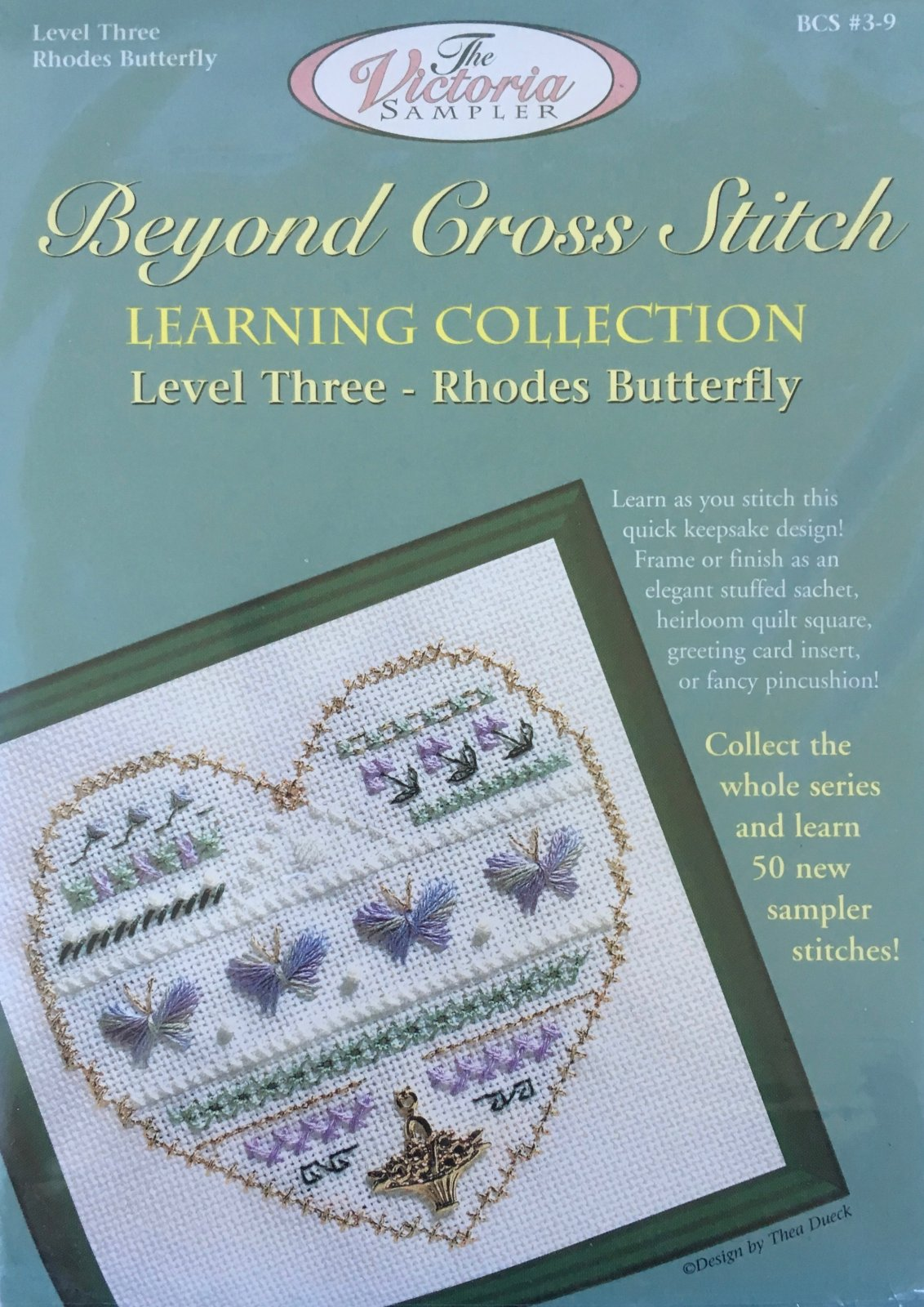 The Victoria Sampler: Butterflies Level 3 - #9 Kit; Rhodes Butterfly Stitch
