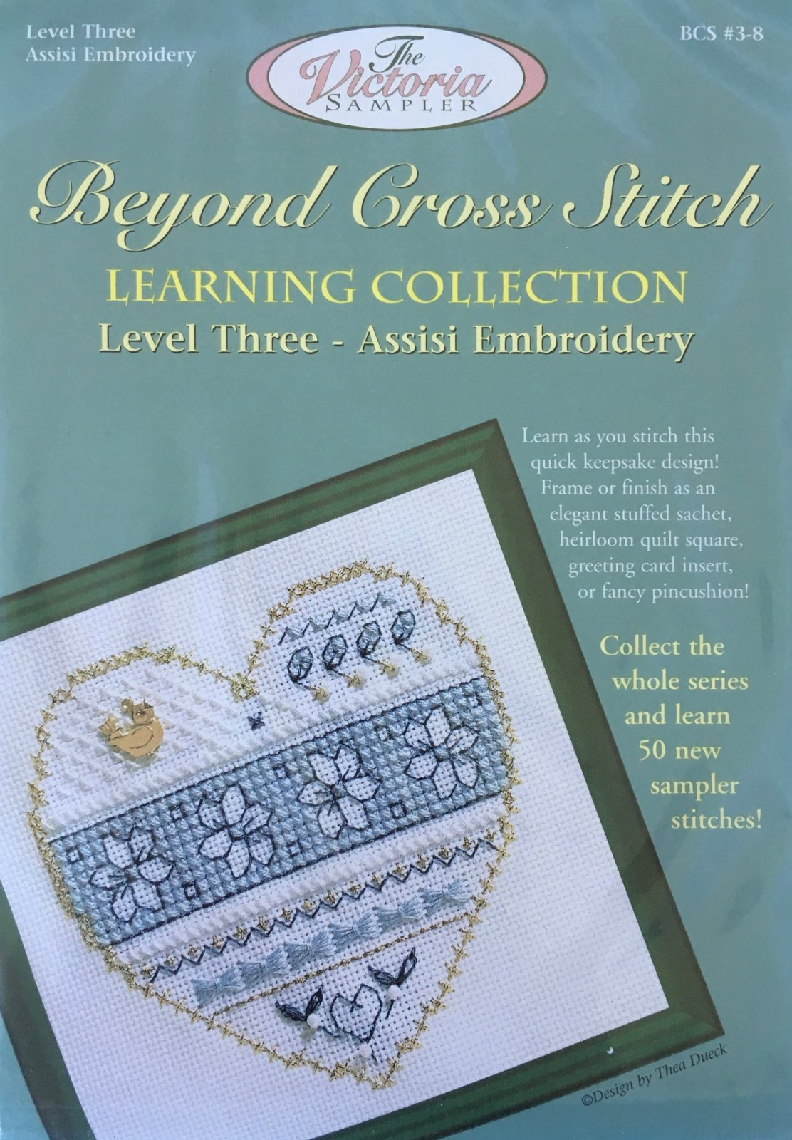 The Victoria Sampler: Blue And White Floral Level 3 - #8 Kit; Assissi Embroidery