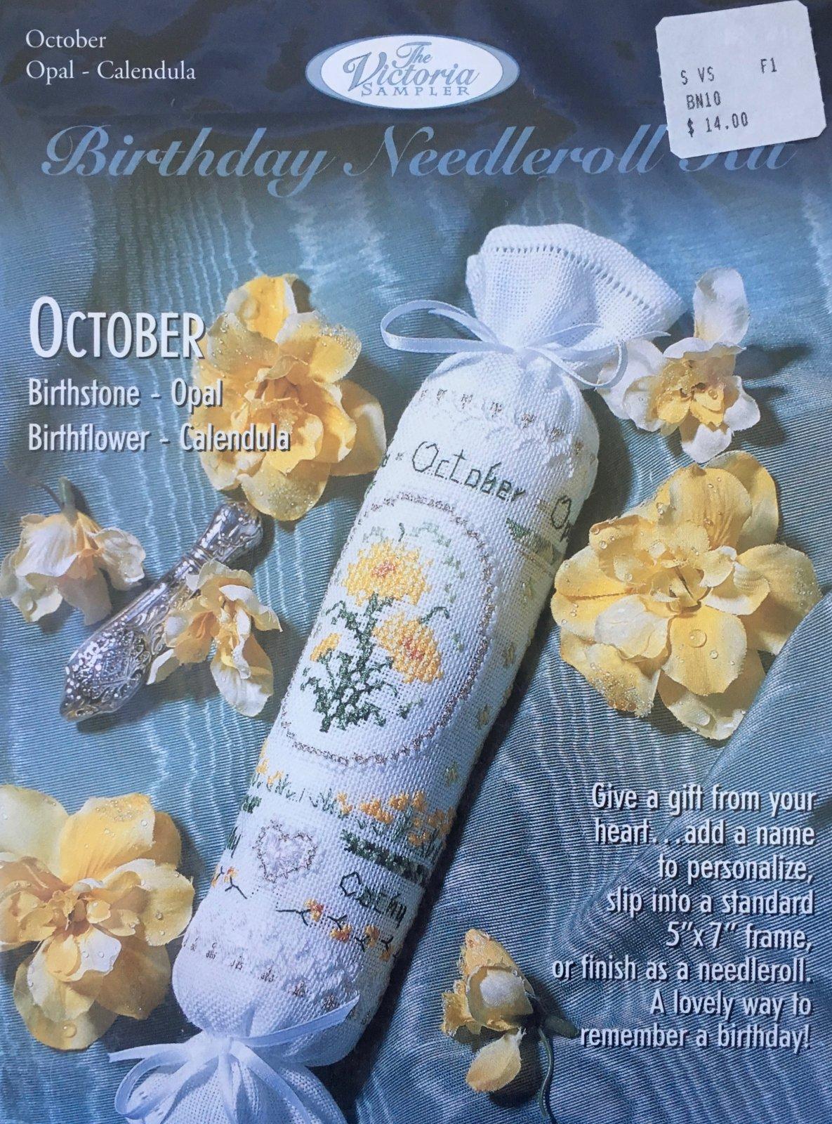 The Victoria Sampler: Birthday Needleroll Kit October BN #10
