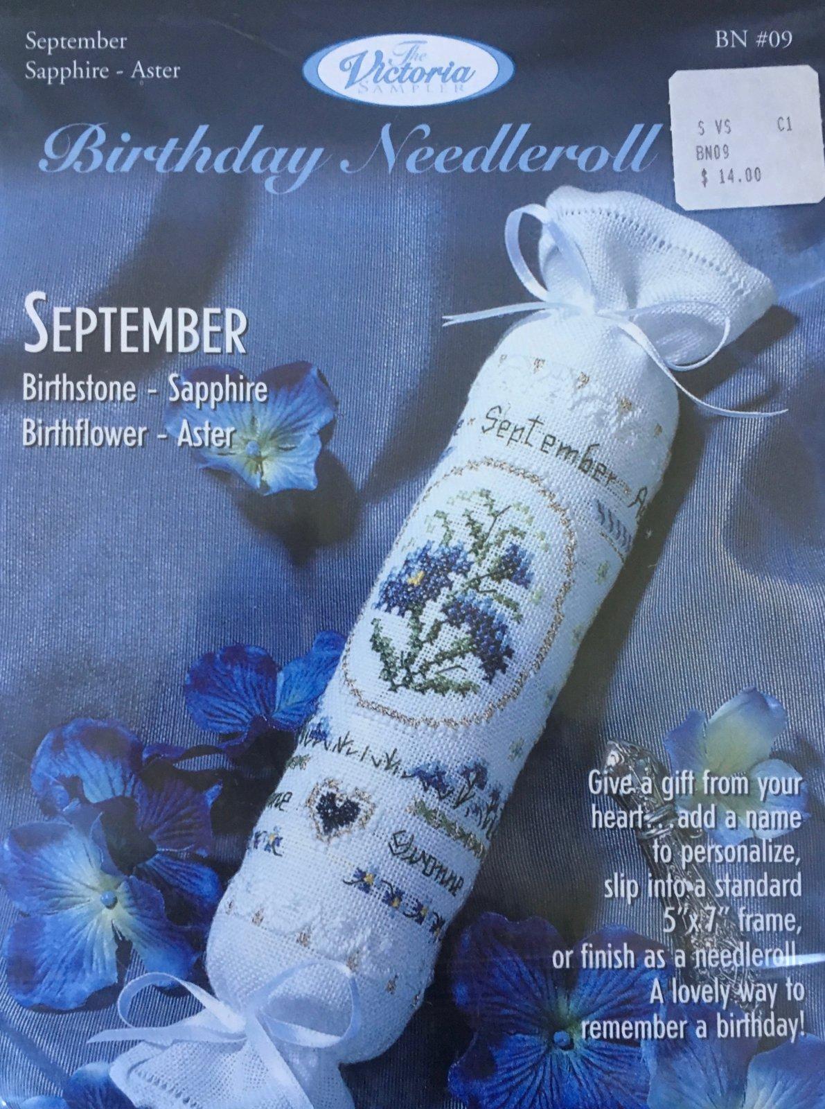 The Victoria Sampler: Birthday Needleroll Kit September BN #09