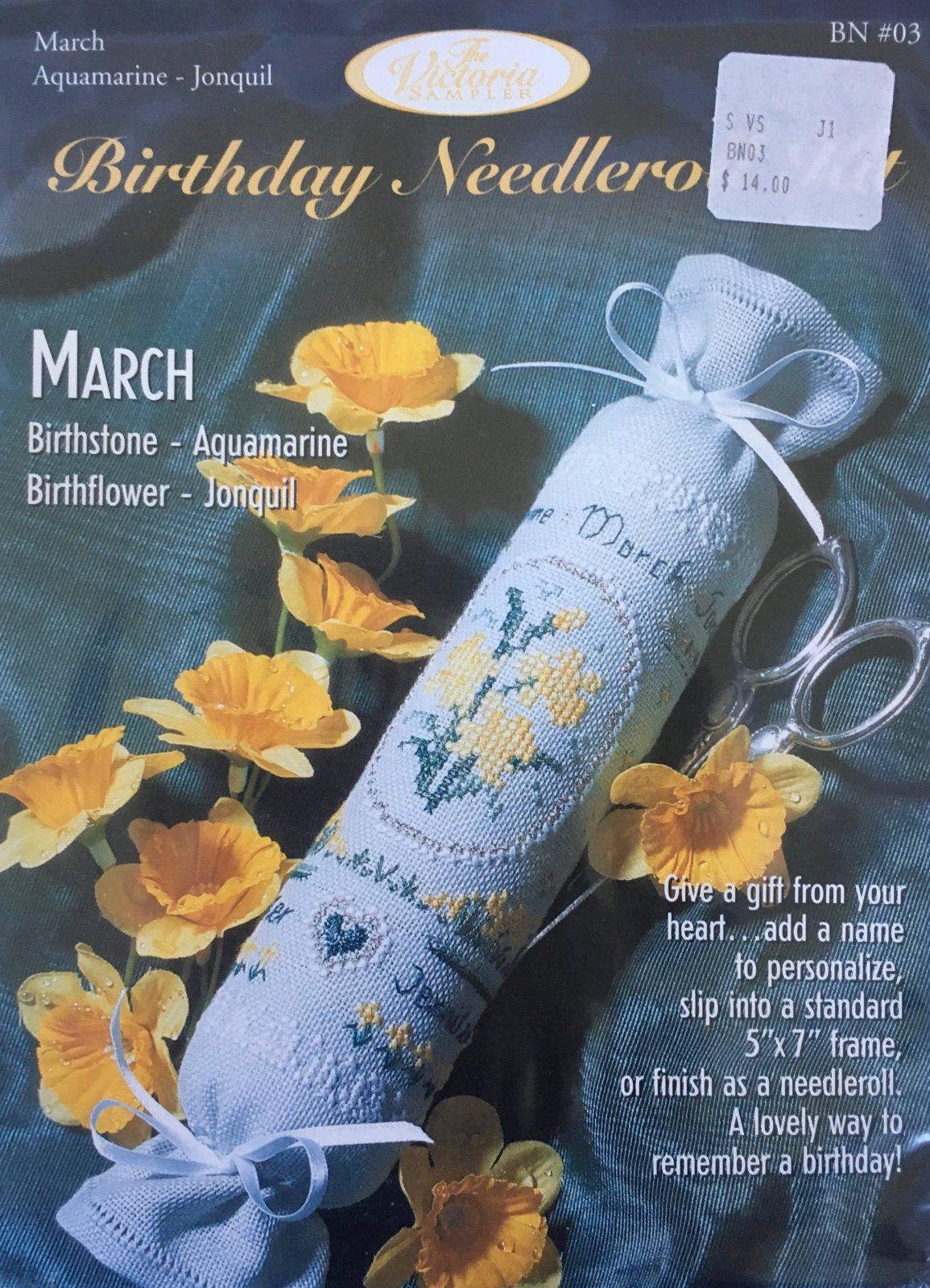 The Victoria Sampler: Birthday Needleroll Kit March BN #03