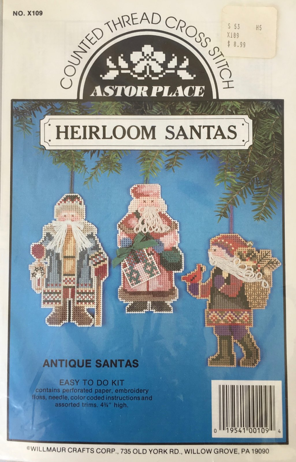 Astor Place: Antique Santas Kit X109