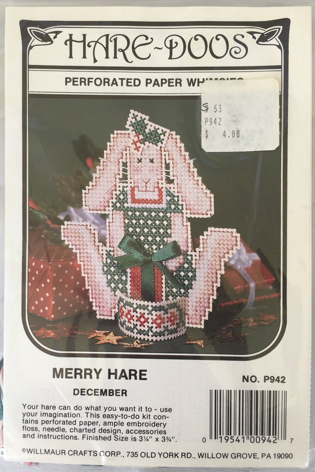 Astor Place: Hare-Doos Merry Hare Kit December P942