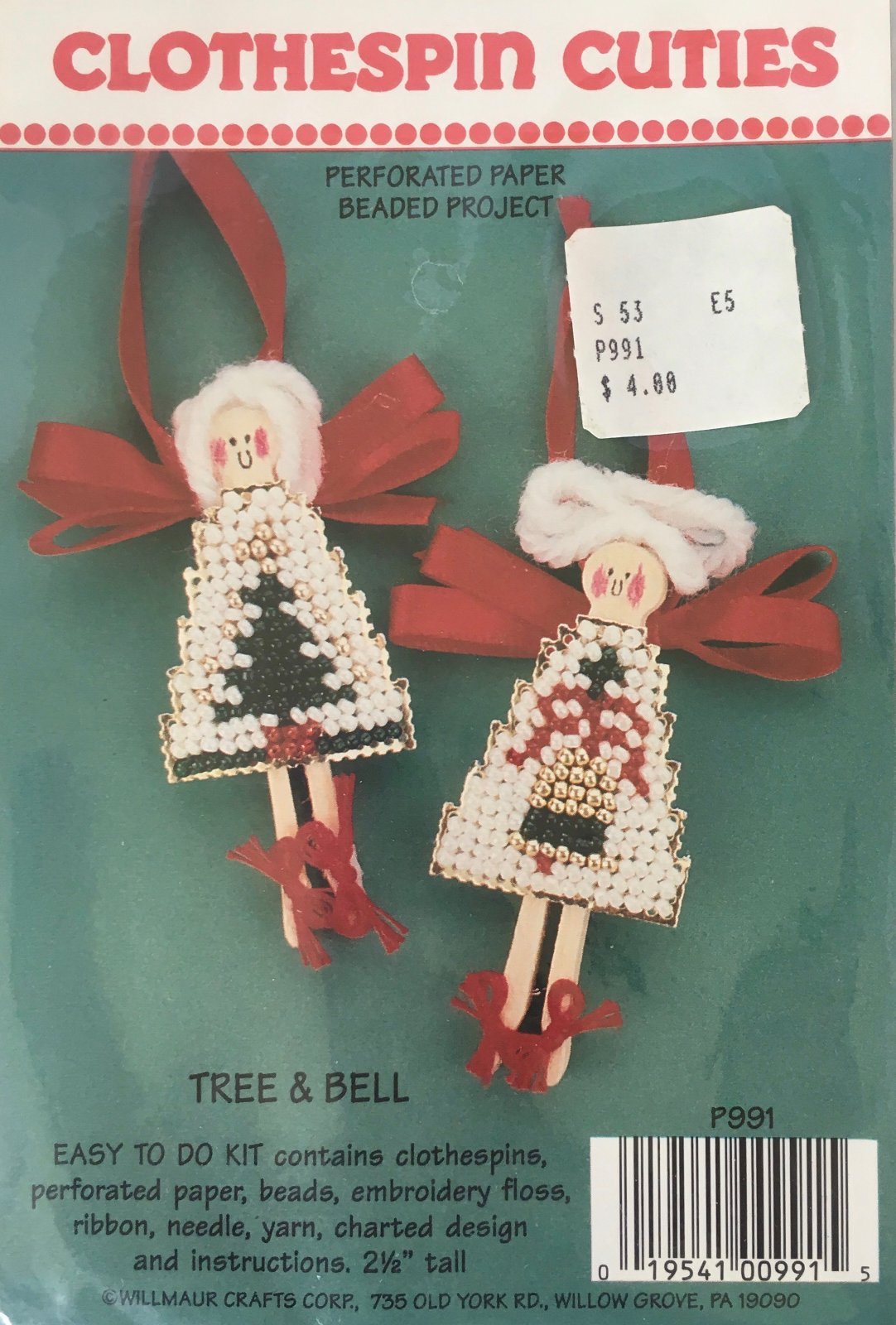 Astor Place: Clothespin Cuties Tree & Bell Kit P991