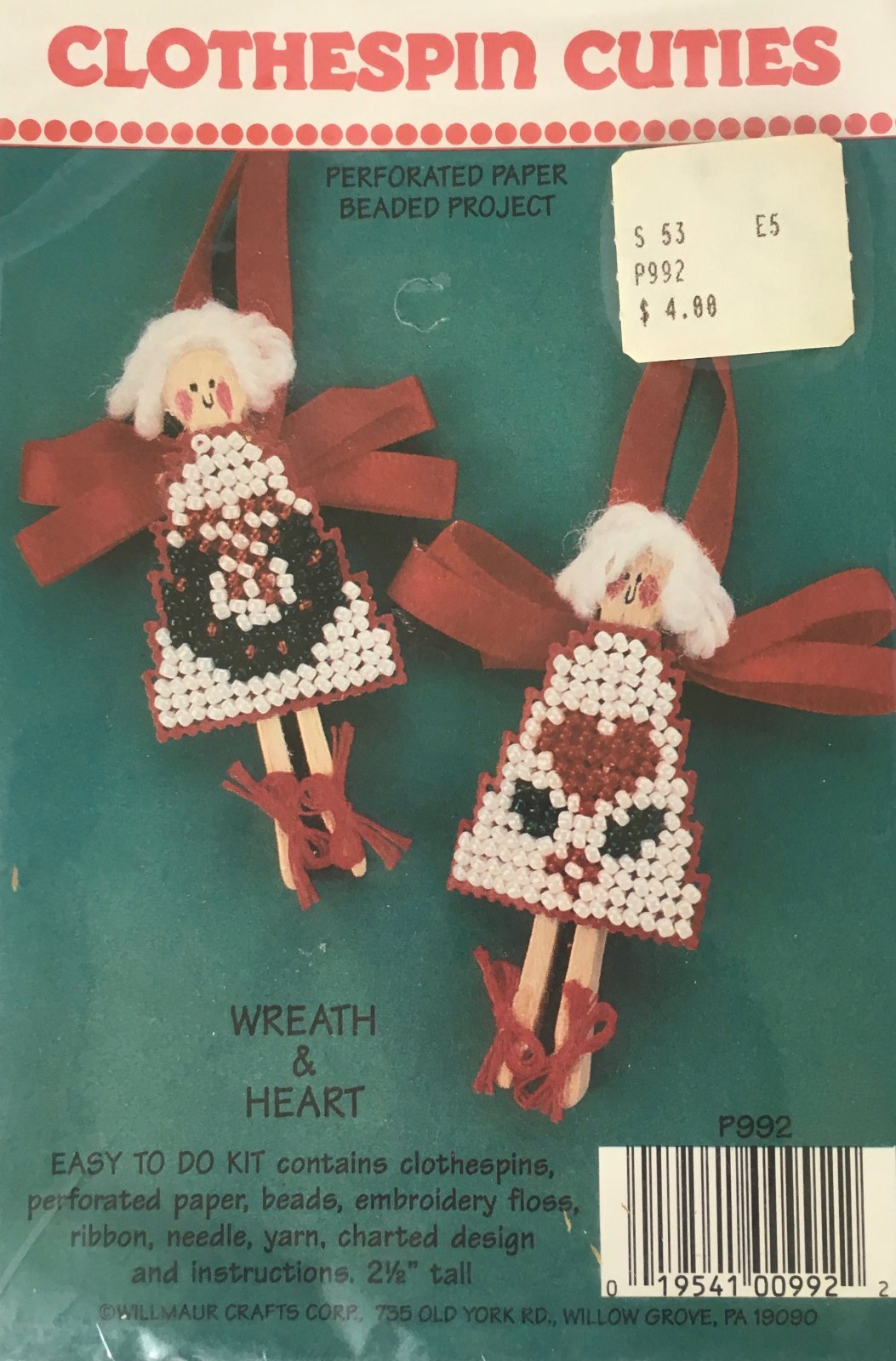 Astor Place: Clothespin Cuties Wreath & Heart Kit P992