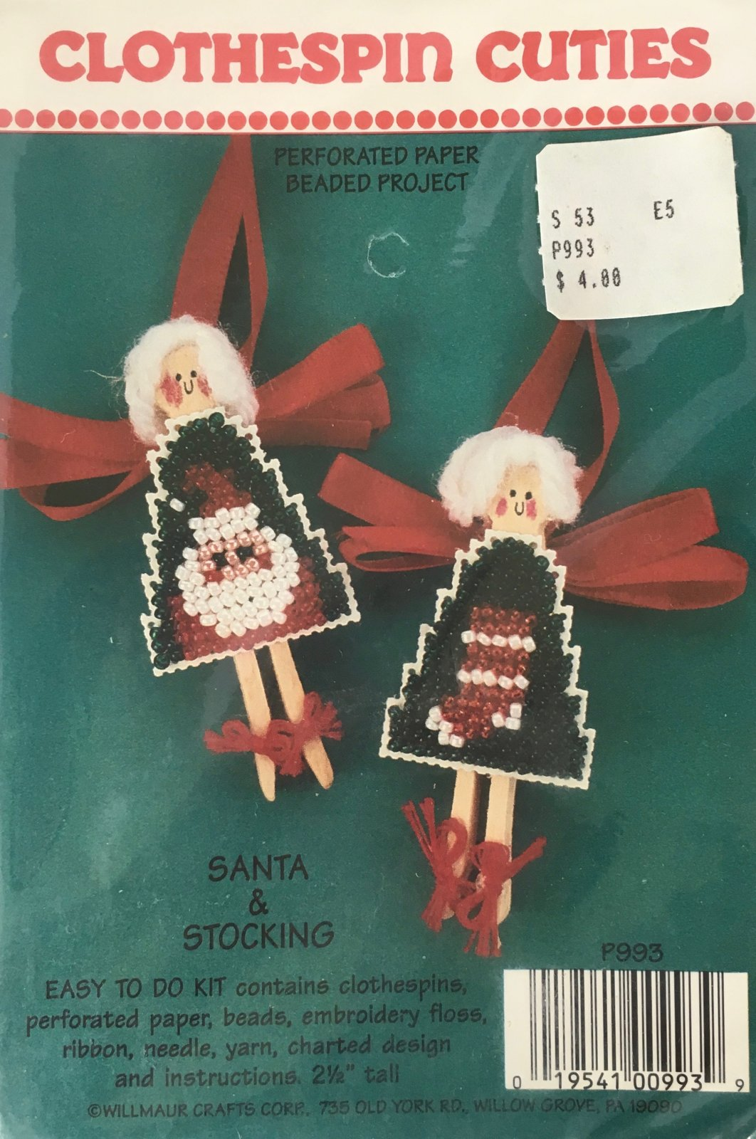 Astor Place: Clothespin Cuties Santa & Stocking Kit P993