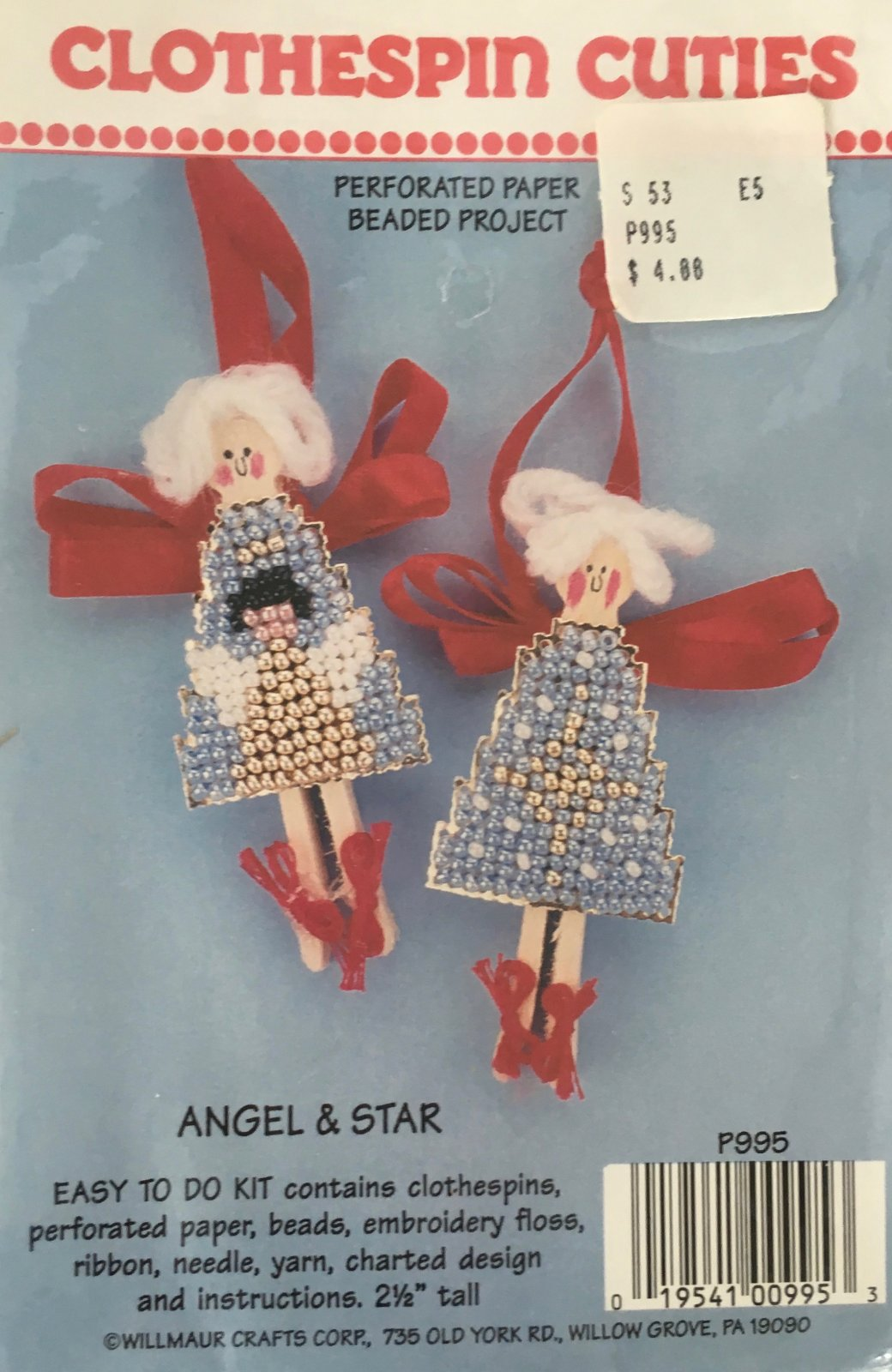 Astor Place: Clothespin Cuties Angel & Star Kit P995