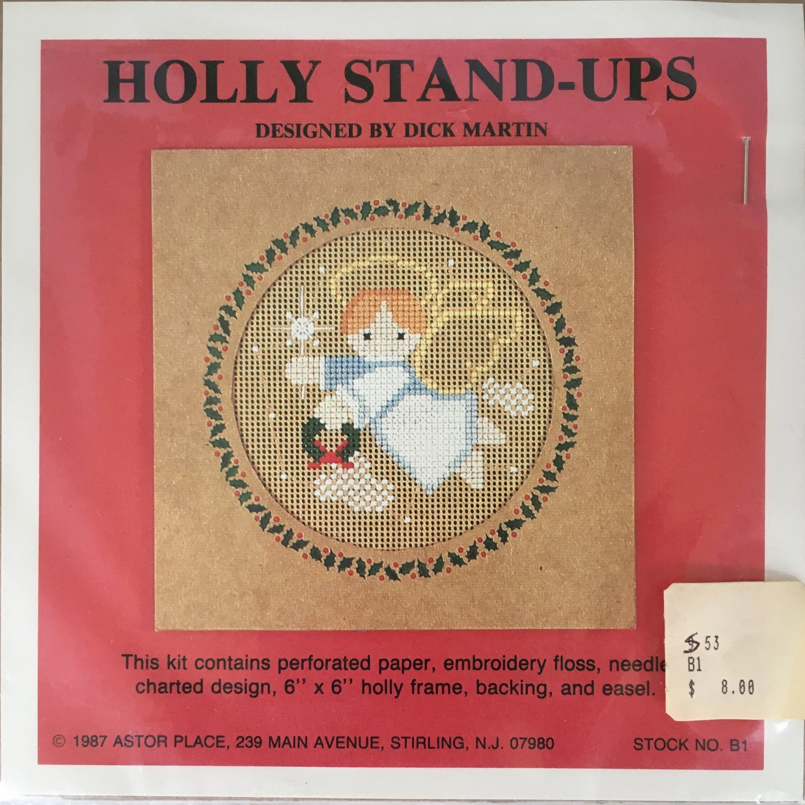 Astor Place: Holly Stand-Ups Angel Kit B1