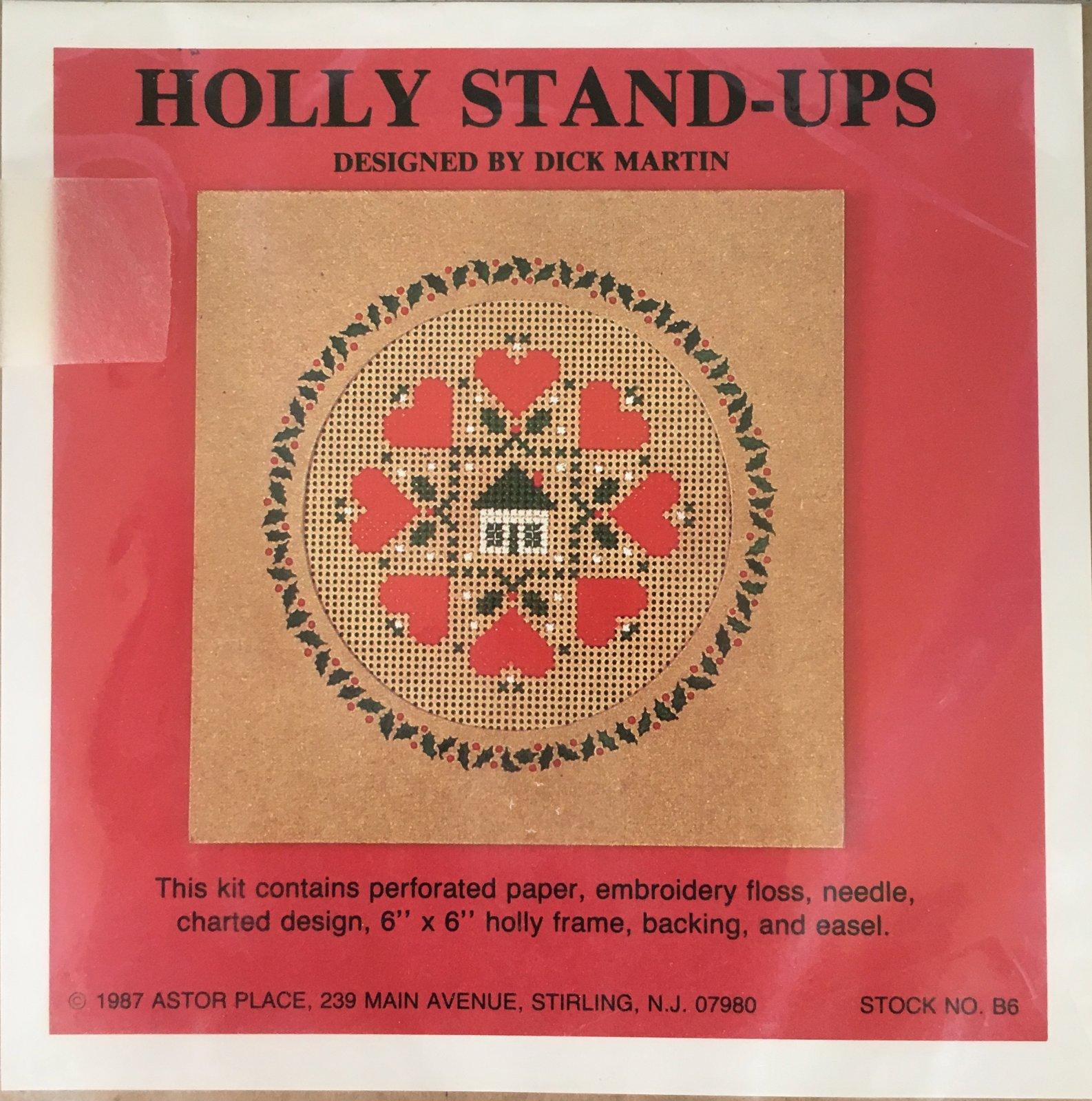 Astor Place: Holly Stand-Ups Hearts Kit B6
