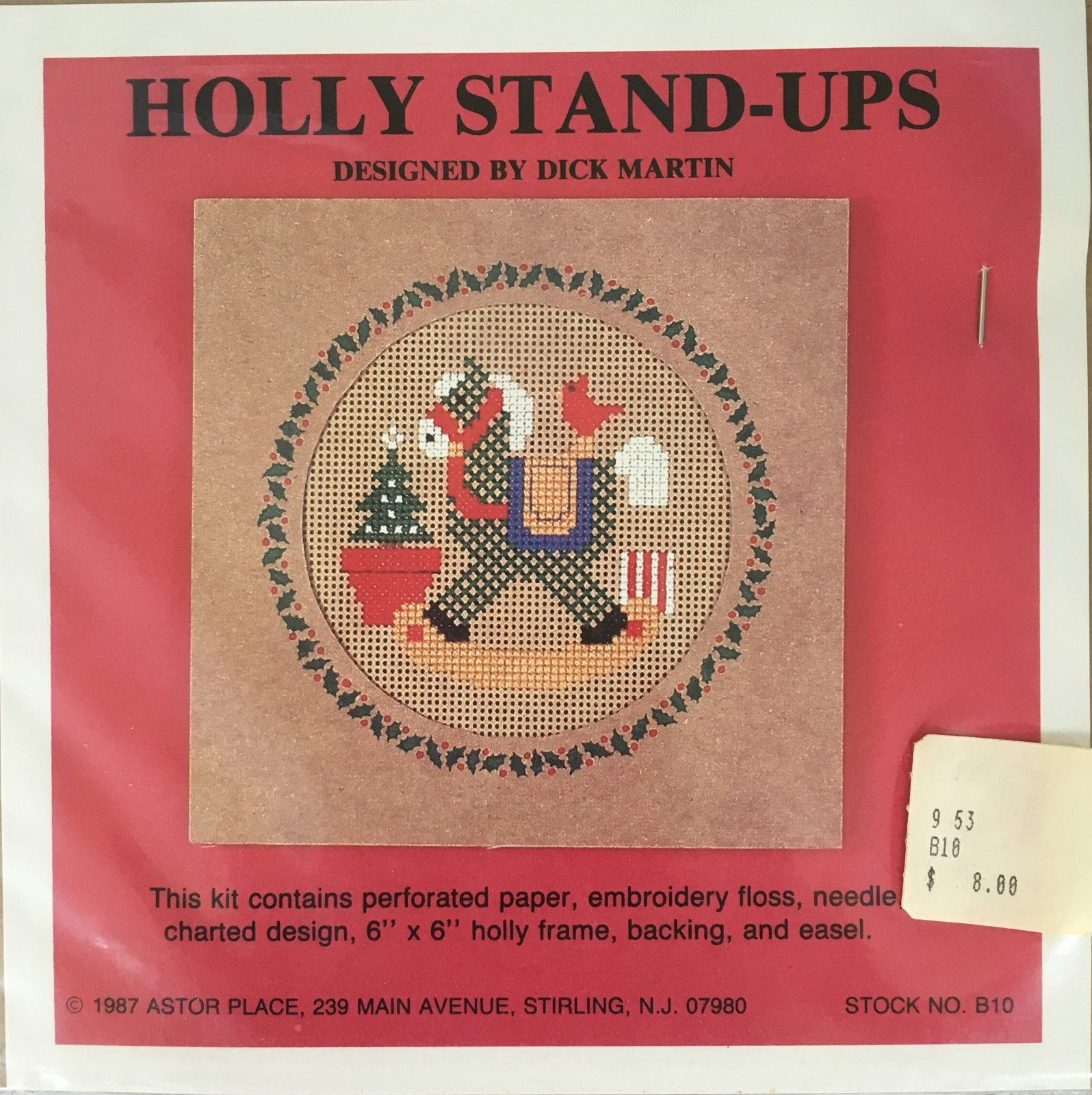 Astor Place: Holly Stand-Ups Rocking Horse B10