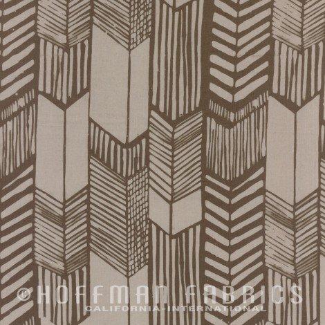 Hoffman Batik - Me & You Indah Batik - Feathered Arrow Oregano 104 426