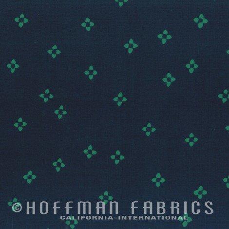 Hoffman Batik - Me & You Indah Batik - Ditsy Floral Spruce