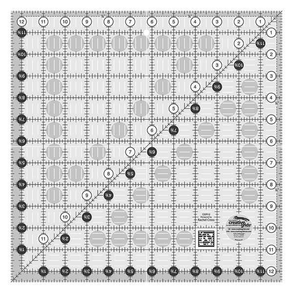 Creative Grids - CGR12 Square 12 1/2 x 12 1/2 Ruler