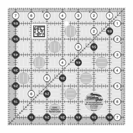 Creative Grids - CGR7 Quilt Ruler 7-1/2in Square