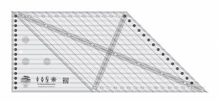 Creative Grids - CGREU2 45 Degree Diamond Dimensions