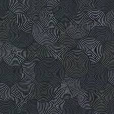 Blank BTR6835 Circles Black 3 yds