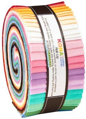 Robert Kaufman -  Kona Solids 30s Pallette by Darlene Zimmerman 40 pcs RU-583-40
