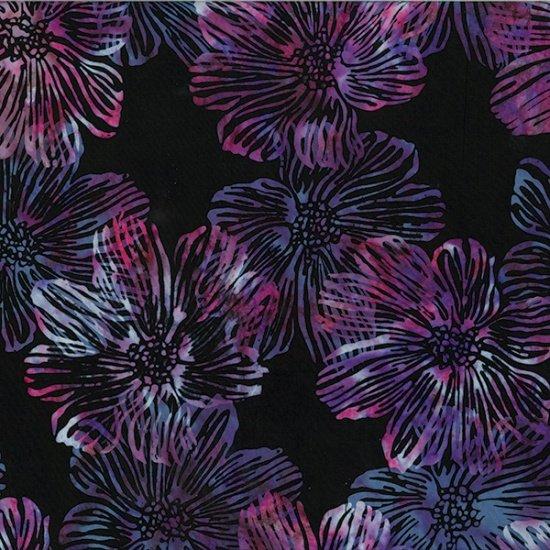Hoffman Batik - R2278 658 Stylized Flora Electric Punch Berry Blast