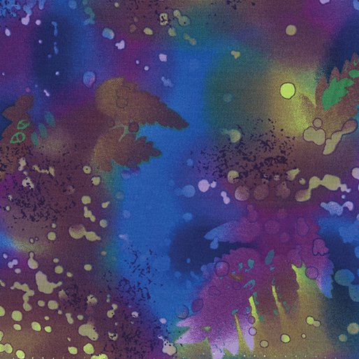 Benartex Fossil Fern Blue Violet