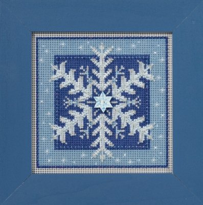 CS Kit Mill Hill Buttons & Beads Winter Crystal Snowflake
