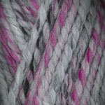 Plymouth Encore Mega Colorspun Pink Grey
