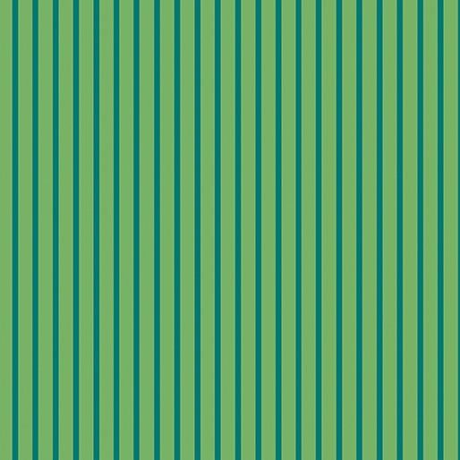 Benartex Warp & Weft Green Stripe Green