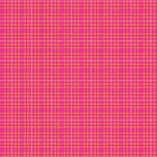 Benartex Warp & Weft Multi Plaid Hot Pink