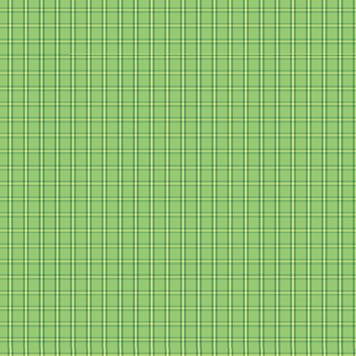 Benartex Warp & Weft Tiny Plaid Green