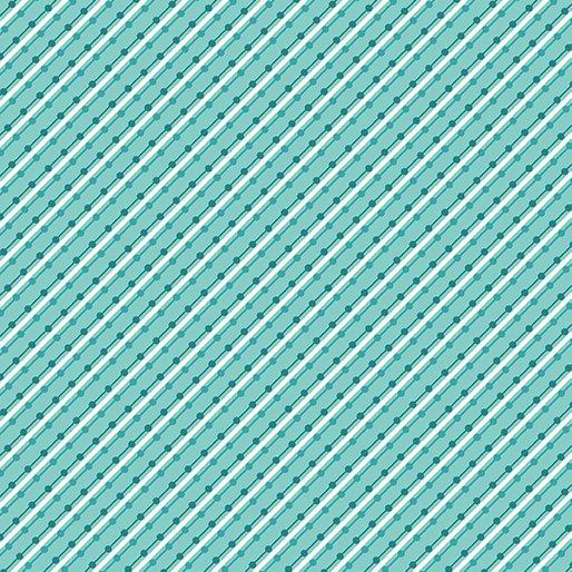 Benartex Home Grown Stripe Aqua