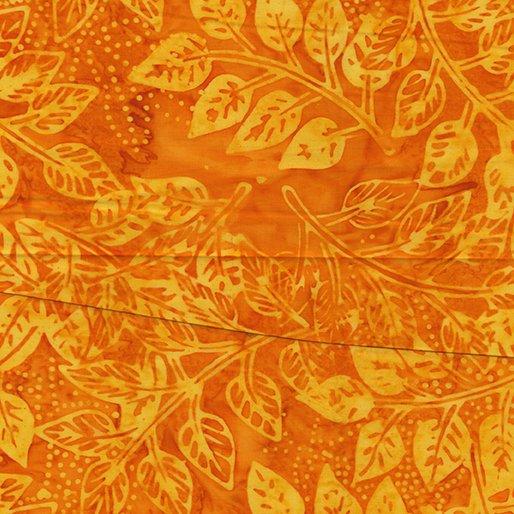 Benartex Bali Rio Leaf On Demand Orange