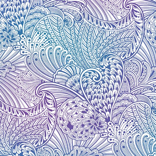 Benartex 108 Flourish White/Multi