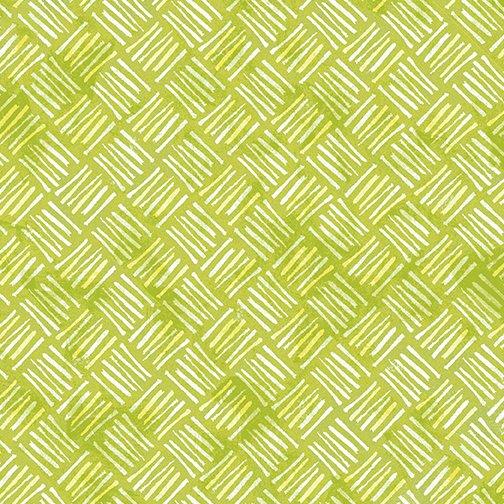 Benartex Soul Shine & Daydreams Crosshatch Lime