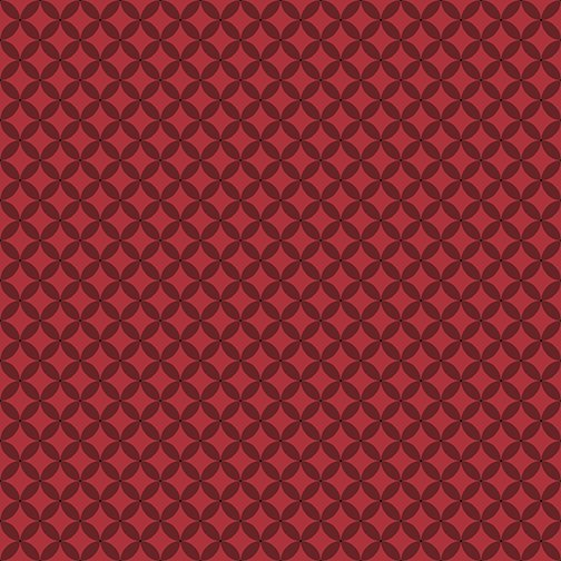 Contempo It's Raining Cats and Dogs Circle Crescents Dark Red