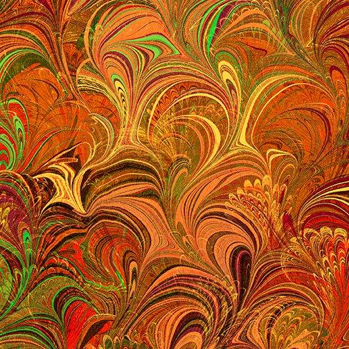 Benartex Poured Color Cosette Orange
