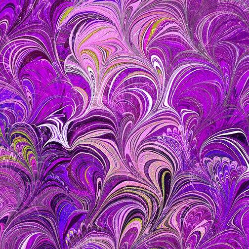 Benartex Poured Color Cosette Violet/Multi