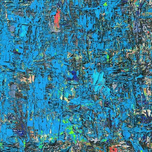 Benartex Poured Color Impressions Blue/Red
