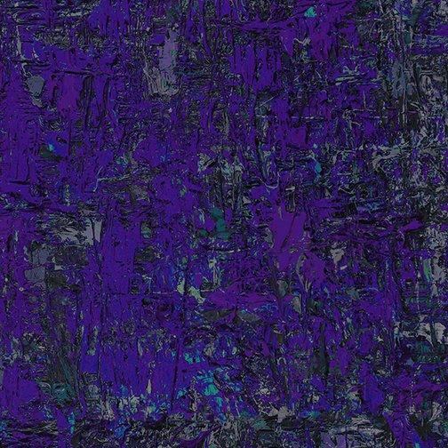 Benartex Poured Cotton Impressions Dark Purple