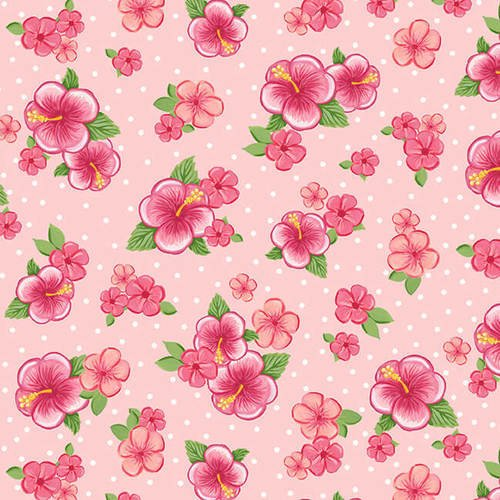 Blank Quilting Let's Flamingle Hibiscus Pink
