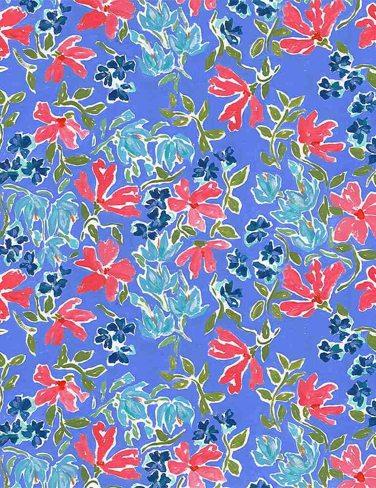 Dear Stella American Summer Patriotic Floral Multi